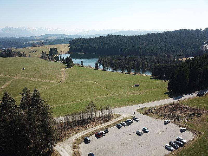 FKK in Kempten (Allgäu): Eschacher Weiher - Luftaufnahmen
