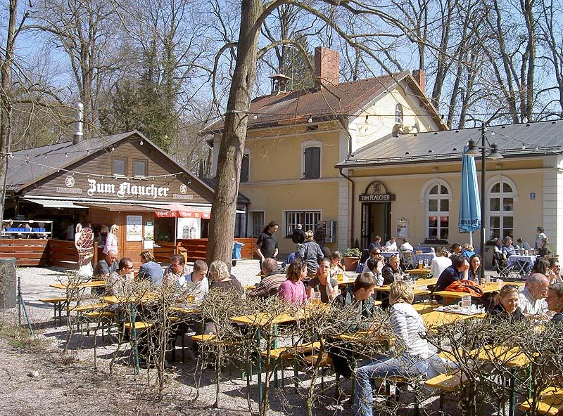 Biergarten Zum Flaucher Biergarten In Munchen