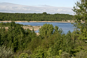 Nacktbaden am Haselbacher See in Ramsdorf - FKK in Sachsen